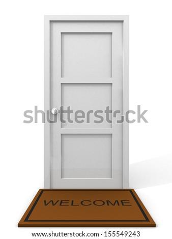 door - 3d render illustration - stock photo