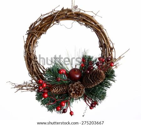 Door decoration for Christmas  - stock photo