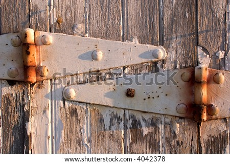 door hinges - stock photo
