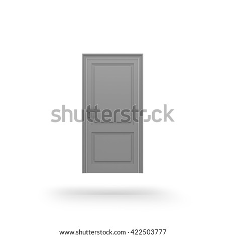 Door icon. 3D rendering. - stock photo