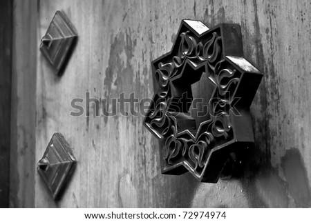 door in Granada - stock photo