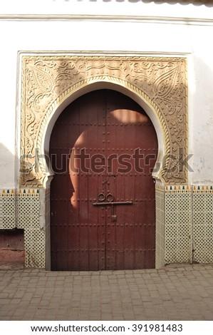 Door in Marrakech - stock photo