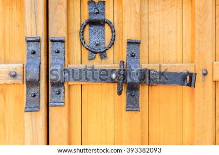 Door into a orthodox monastery - stock photo