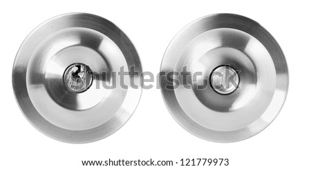 Door knob isolated on white background - stock photo