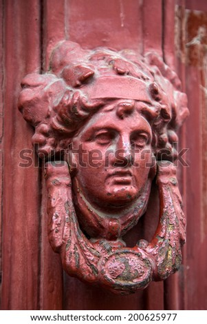 Door knocker - stock photo