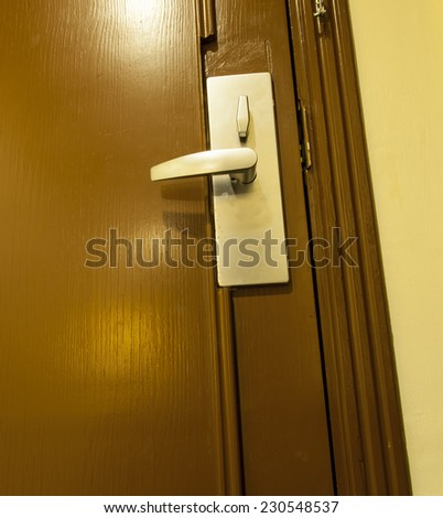 door locks - stock photo