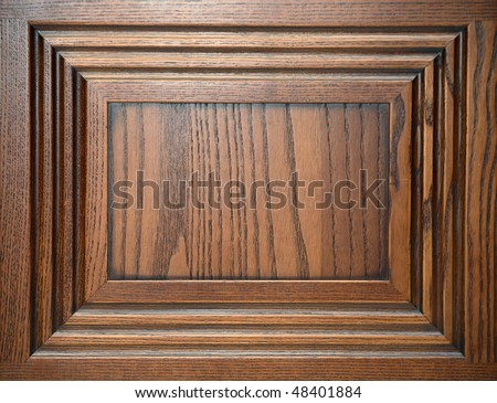 Door made out of chestnut wood - stock photo