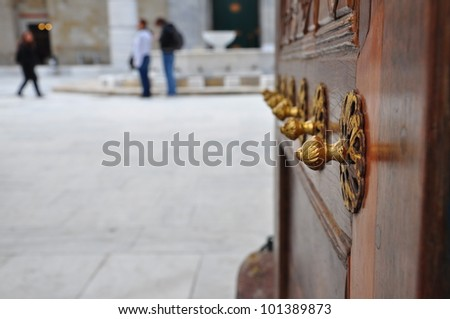 door of a palace in Turkey - stock photo