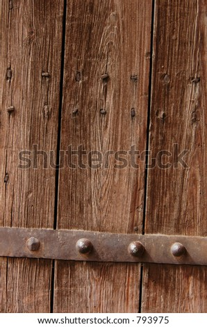 Door of a traditional Moroccan house in Marrakech, Morocco - stock photo