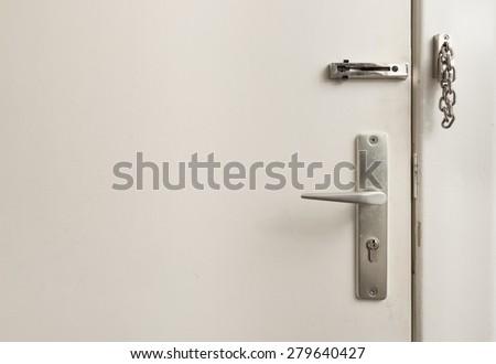 Door safety lock - stock photo
