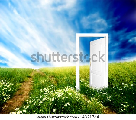 Door to new world. Colourful, bright, great quality. - stock photo