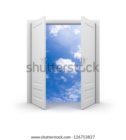 Door to sky - stock photo