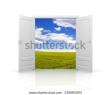 Door to spring - stock photo