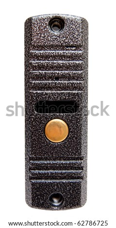 doorbell isolated on white background - stock photo