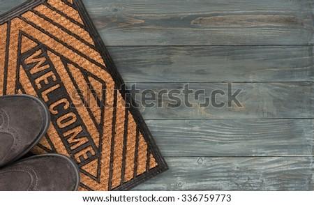 Doormat. - stock photo