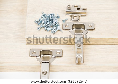Doors furniture on the white background - stock photo