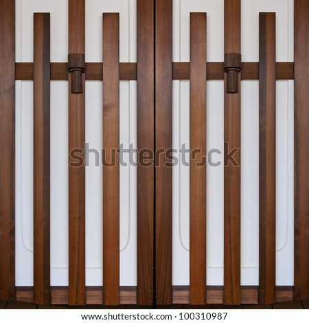 Doors in Japanese style - stock photo