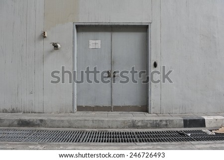 Doorway of an Industrial Building - stock photo
