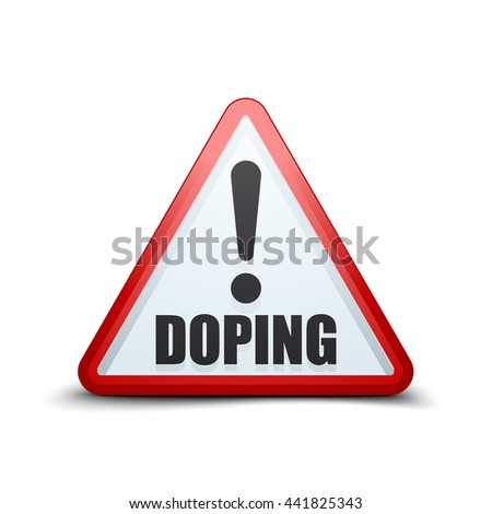 Doping Exclamation triangle sign - stock photo