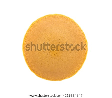 Dorayaki ( Japanese pancake dessert ) on white background - stock photo