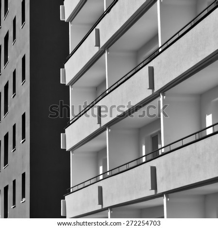 dormitory for students in Magdeburg - stock photo