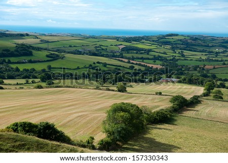 Dorset countryside ,England - stock photo