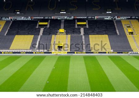DORTMUND, GERMANY - JULY 13: Sigmal Iduna park . Home of Borussia Dortmund July  13, 2014, in Dortmund, Germany. - stock photo