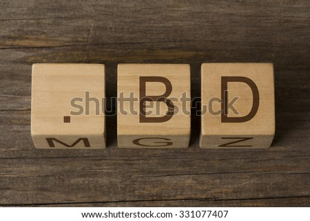 dot bd - internet domain for Bangladesh - stock photo