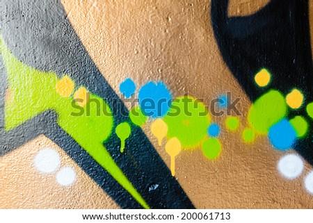 Dots and spots graffiti closeup - stock photo