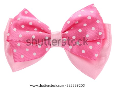 Dotted bow tie pink with spots - stock photo