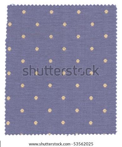 Dotted Fabric Swatch with zigzag edges - stock photo