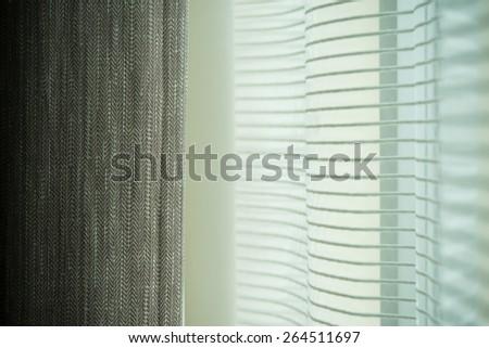 Double curtain - stock photo