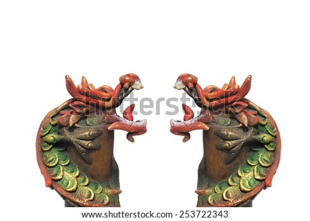 Double dragons, Chinese new year - stock photo