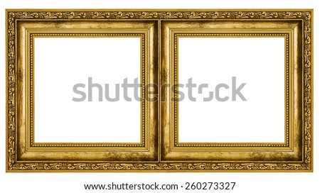 Double frame isolated on white background - stock photo