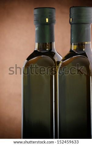 Double glass bottles. - stock photo