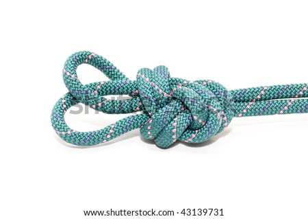 double loop knot - stock photo
