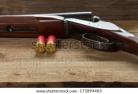 Double shotgun - stock photo
