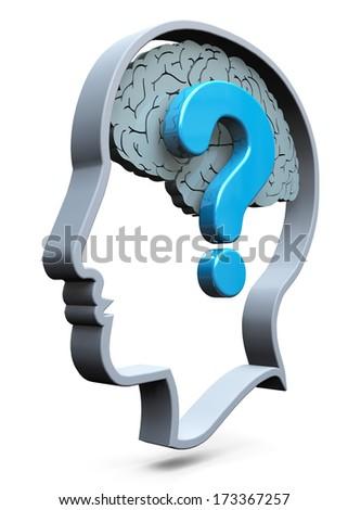 Doubt Concept - 3D - stock photo