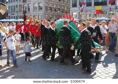 Doudou festival in Mons, Belgium - stock photo