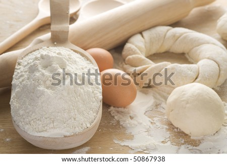 Dough for Baking - stock photo