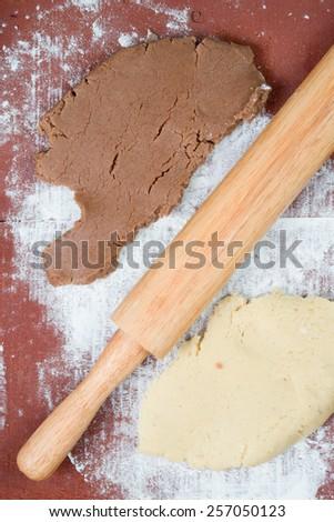 dough for cookies - stock photo