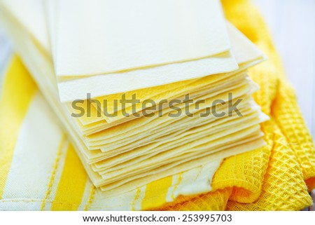dough for lasagne - stock photo