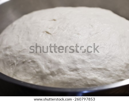 dough let stand to rise - stock photo