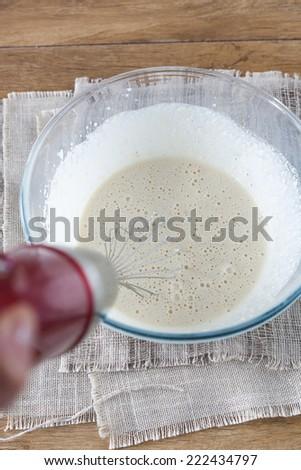 Dough Making - stock photo