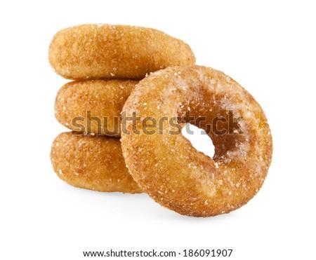 doughnut on a white background - stock photo