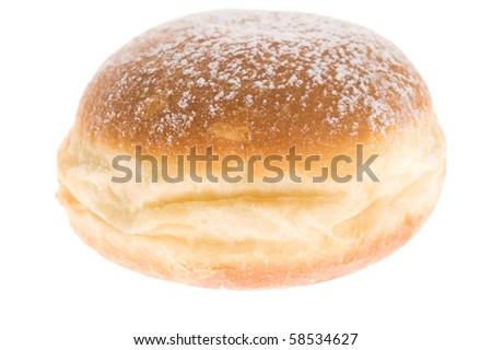 doughnut on white background - stock photo