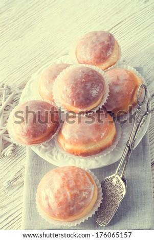 doughnut - vintage style - stock photo