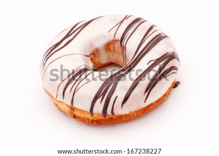doughnuts isolated on white - stock photo