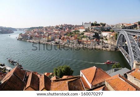 Douro river in Porto, Portugal - stock photo
