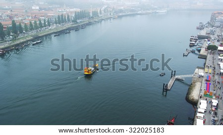 Douro river, Porto, Portugal - stock photo